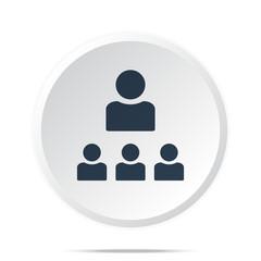 Black Organization icon on white web button