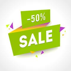 Vector Transparent SALE banner. Geometric Sale background. Super Sale illustration
