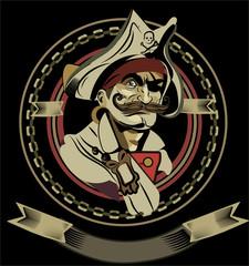 Vector Illustration of Pirate Emblem