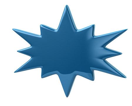 3d illustration of blue bursting icon