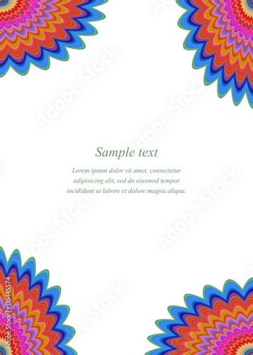 Multicolored floral page corner design template