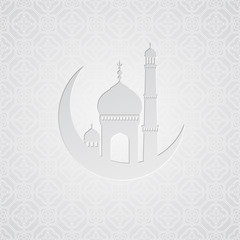 Ramadan greetings card background. Vector illustration