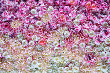 Beautiful flowers wall background