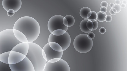 Abstract vector illustration of a background with bubbles