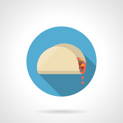 Tacos lunch flat color design vector icon