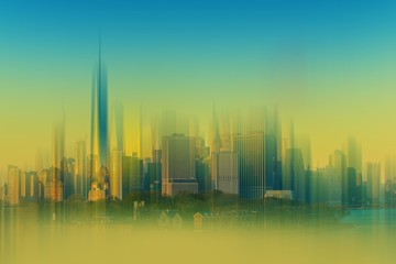 Cityscape Abstract Background