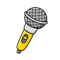Yellow microphone.