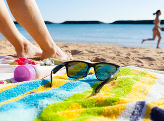 Travel and tropical beach vacation holiday concept.