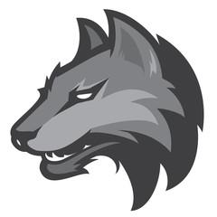 wolf head sport mascot