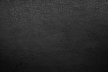 Black leather texture. Pattern background.
