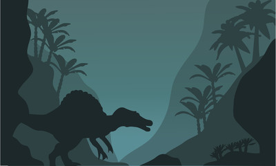 Single spinosaurus of silhouette