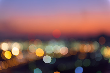 Abstract blurred lights background, Night city.
