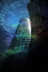 futuristic building, abstract image visual