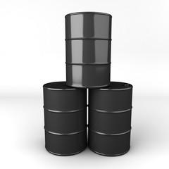 3d rendering of oil barrel or drum