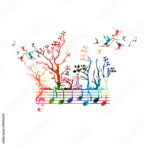 quotcolorful music background with music notes and