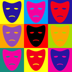 Tragedy theatrical masks