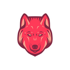 Wolf head logo. Three color concept. Logo template