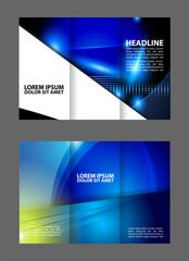 Blue Style Tri-Fold Brochure Design. Corporate Leaflet, Cover Template