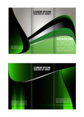 Green wave brochure template