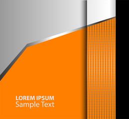 Orange, black wave background vector overlap dimension 3d graphic metal color message board for text and message design frame line shadow for modern web design eps10 infographic