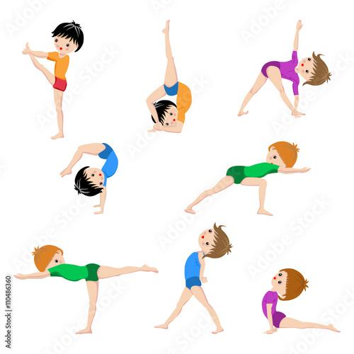 Kids Yoga Poses Poster