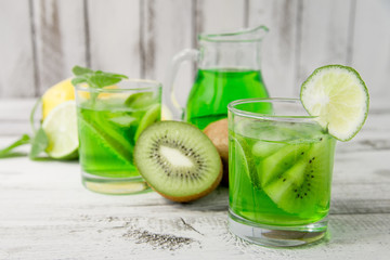 homemade lemonade with kiwi