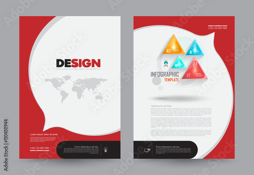 Cover annual report leaflet brochure flyer template a4 for Design a book jacket template