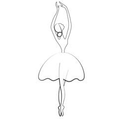 Ballet stylized symbol. Dance icon. Ballerina in dance silhouettes