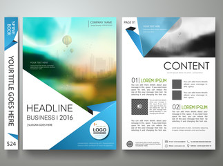 Brochure design template vector.Flyers annual report magazine poster.Leaflet cover book presentation with balloon and sky background. Layout in A4 size with abstract blue flat shape.illustration.