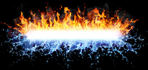 Fire And Water For Powerful Text-Message