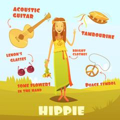 Hippie Character Illustration