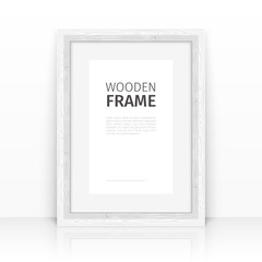 White Frame on a Glossy Surface