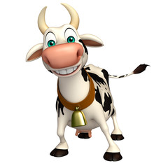 Foto auf Leinwand Bauernhof fun Cow funny cartoon character