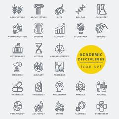 Academic disciplines icon