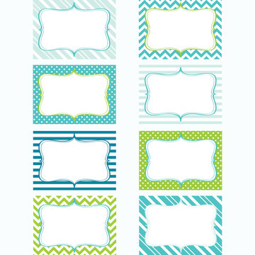 Printable Labels Set.Tags. Photo Frame, Gift Tags, Card Making, Invitation