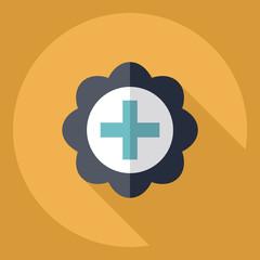 Flat modern design with shadow  Icon medicine