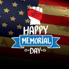 Happy Memorial Day vector background.