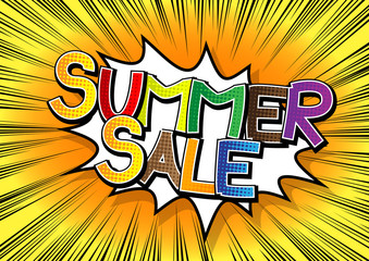 Summer Sale - Comic book style word.