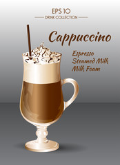 Coffee Cappuccino. Coctails