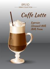 Coffee Latte. Coctails