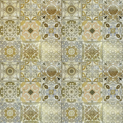 Beautiful old wall ceramic tiles patterns handcraft from thailan