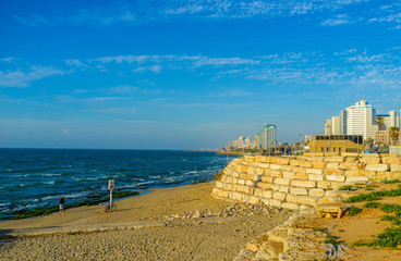 The Alma beach in Tel Aviv