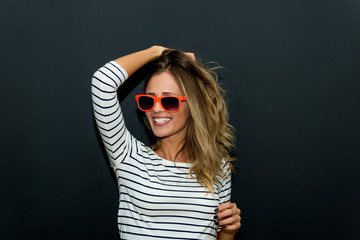 Party Girl with sunglasses