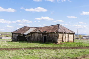 Old dilapidated barn