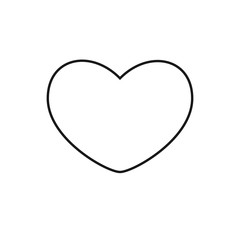 heart black flat web icon mobile app