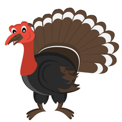 Cartoon gobbler Vector Illustration