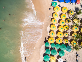 Top View of a Tropical Beach