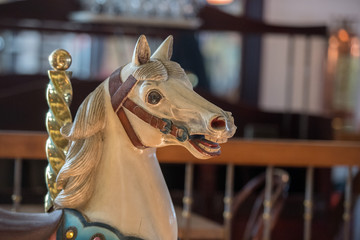 old carousel horse close up