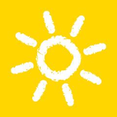 Painted sun illustration