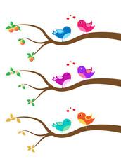 cartoon bird on a tree